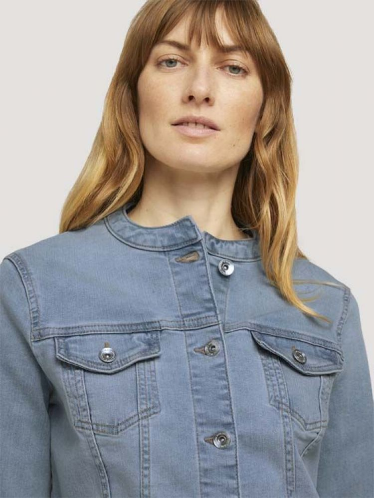 Tom Tailor Jack Blauw dames (EASY CROPPED DENIM JACKET - 1025139.10118) - GL Sport (Sluis)